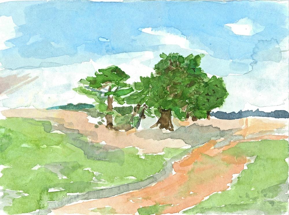 Landschaft mit Baum